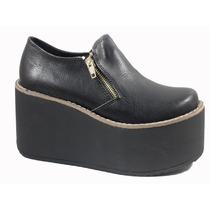 Zapato Plataforma Gondola Alta Cierres Mujer Invierno 310