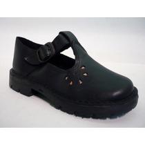Zapatos Colegial Escolar Guillerminas Nena Cuero Vacuno
