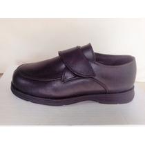 Zapato Nene Colegio Cuero Velcro