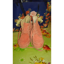 Botas Gamuzadas Color Coral Talle 36