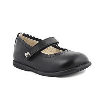 Zapatos Guillerminas De Nena Negras Cuero Marcel - 20 Al 27