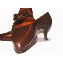Calzado Para Dama, Zapatos Finos De Cuero Con Taco De 5cm