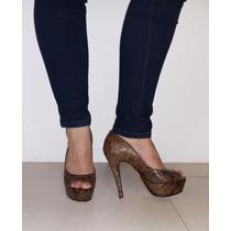 Zapatos Plataformas - Reptil -