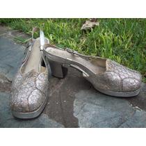 Sandalias Bajas Glitter Ideal Disfraz