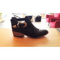 Botitas Texanas Botas Cuero Diafana Zapatos