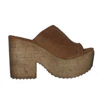 Hermosos Zapatos Sandalias Plataforma Mujer Dama Gamuza