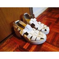 Gladiadoras Blancas Talle 36