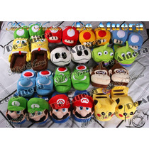 Pantuflas Honguito, Yoshi. Saga Mario Bros. Varios Colores
