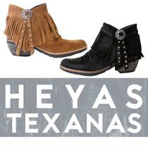 Vaqueras Texanas Heyas Mora - Zapatos Mujer Cuero - Araquina