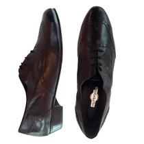 Zapatos Hombre Cuero Calzado Vestir Elegante Cordones Picado