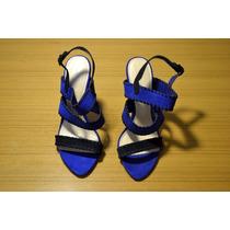 Zapatos De Fiesta Azules Y Negro Zara T:38