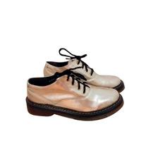 Clippate Zapatos Creepers Borcegos Botas Doradas Mujer