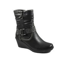 Botas Mujer Invierno Zapatos Chocolate Gondola Hebilla 72001