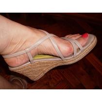 Zapatos De Mujer - Sandalias Con Plataforma De Yute