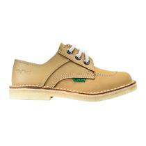Zapato Para Colegio De Cuero Kickers Acordonado Del 35 Al 40