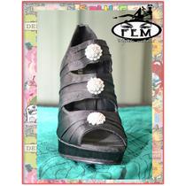 Zapatos Forrados Con Strass P/fiesta La Plata
