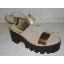 Sandalias Zapatos Mujer Plataformas Con Taco Base Tractor