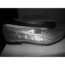 Ballerinas Plateadas Con Glitter!!!