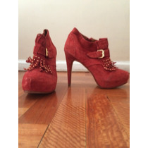 Zapatos Rojos De La Ostia T40 Impecables