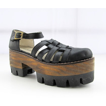 Zuecos Sandalias Plataforma Zapatos De Cueros Bruno Manetti