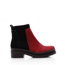 Botineta De Gamuza Para Mujer Combinada Zapatos Blaque