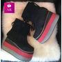 Zapato Bota Con Fleco Y Super Plataforma!! Divina! :)