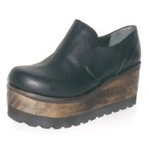 Mocasines Zapatos Nazaria Cuero Vacuno Plataforma