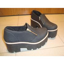 Zapatos Con Plataforma 2 Cierres Talle 36