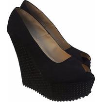 Zapatos Taco Y Plataforma Altos Con Tachas De Mujer Nuevos