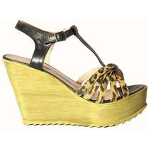 Sandalias Gex Plataforma De Madera - Tops Zapatos Verano
