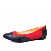 Chatitas De Cuero Zapatos Mujer De La Leopolda