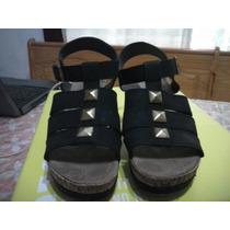 Sandalias Negras Con Taco Chimo Y Plataforma