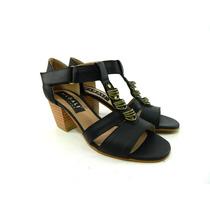 Zapatos Mujer Taco Sandalias Verano Cuero Magali Shoes
