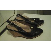 Sandalias De Cuero Negras Super Elegantes