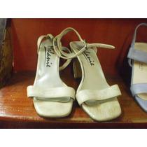 Zapatos Blanco Imitacion Reptil N°36