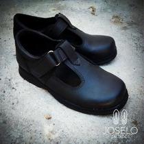 Zapatos Colegiales, Cuero Guillermina,cordón,velcro,hebilla.