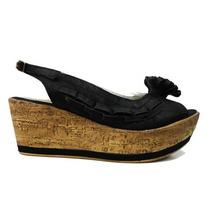 Sandalias C/ Plataforma Zapatos Moño Rimini - Ultima Moda