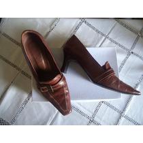Zapato Cuero Color Zuela Tipo Mocasín