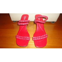 Sandalas De Mujer Taco Chino Marca Morena Nro. 38