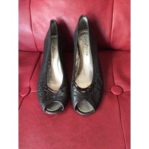 Zapatos De Mujer Lady Stork, 36, Taco Chino, Puntera Abierta