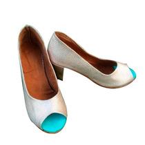 Sandalias Zapatos Stilettos Con Taco En Cuero Mujer Rosas