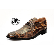 Zapato Alta Gama - Jr Boots & Shoes - Art. 1327 Reptil Marr.