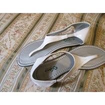 Ojota Sandalia De Cuero Blanco (valeria Calzados) Talle 39