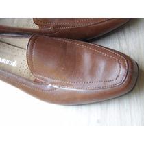 Excelentes Zapatos De Cuero Tipo Mocasines N 38 Nuevos !