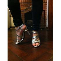 Stiletto Sandalia Fiesta Plateada Nuevas