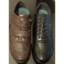 Zapato Zapatilla De Hombre De Cuero Elegante Talle 45