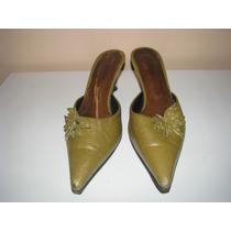 Zapatos Mujer N°40 Color Verde Musgo