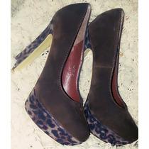 Zapatos Mujer Plataforma Animal Print Leopardo Importados