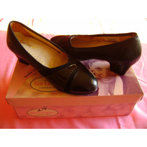 Zapatos Acolchados San Crispino N°35 Cuero, Charol Y Gamuza