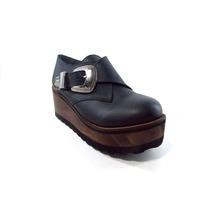 Zuecos Cerrados Cuero Mujer Plataforma Magali Shoes